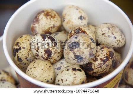 Quail eggs are a very nutritious food. #1094471648