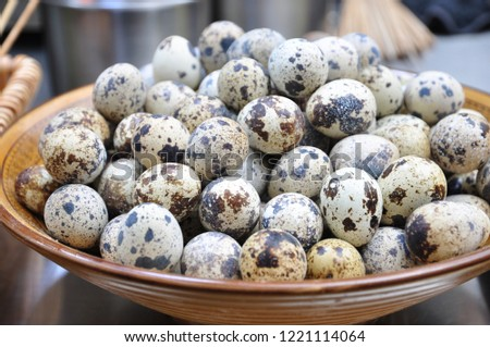 Quail eggs are a very nutritious food. #1221114064