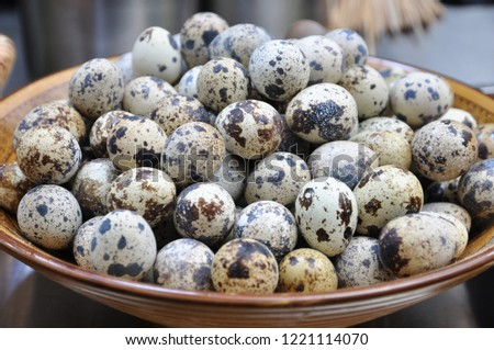 Quail eggs are a very nutritious food. #1221114070
