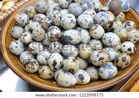 Quail eggs are a very nutritious food. #1222098175