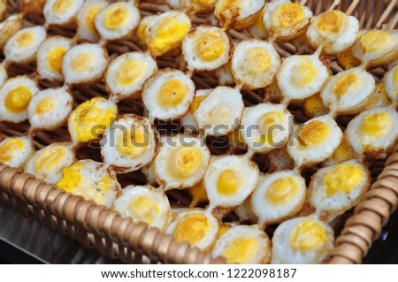 Quail eggs are a very nutritious food. #1222098187