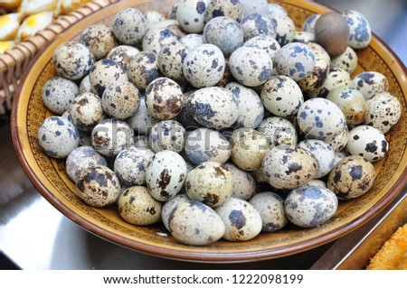 Quail eggs are a very nutritious food. #1222098199
