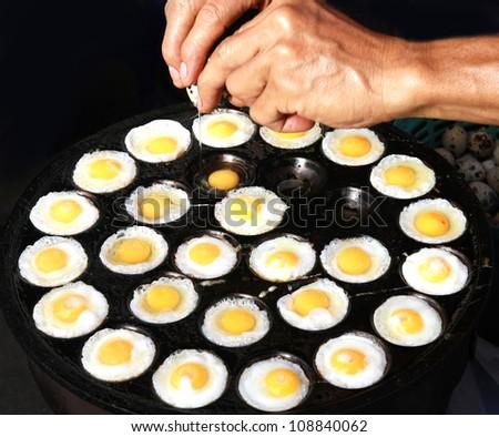 Quail eggs fried