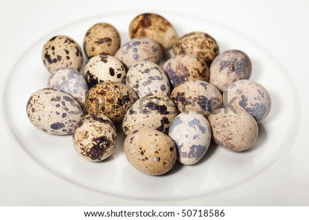 quail eggs on the plate