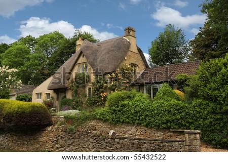 Quaint, Charming English Cottage Stock Photo 55432522 ... Quaint English Cottages
