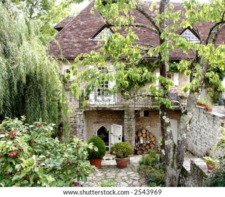 Quaint courtyard french garden stock photo 2543969 for Small french courtyard gardens