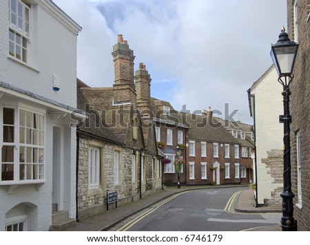 Quaint street in ancient port of poole dorset england - Architects poole dorset ...