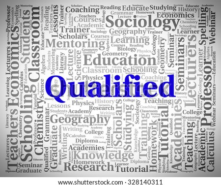 Qualified Word Meaning Proficient Adept And Skilful