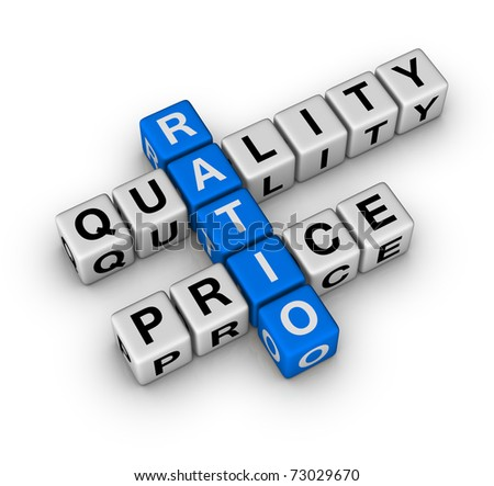 Quality and Price Ratio cubes crossword