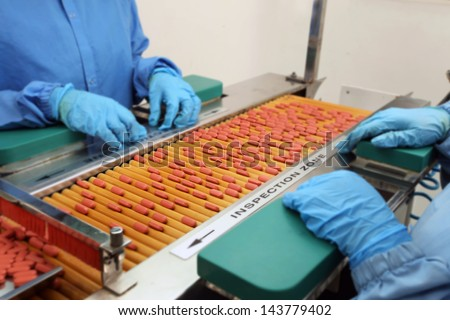 quality check of the tablets