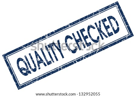 quality checked stamp