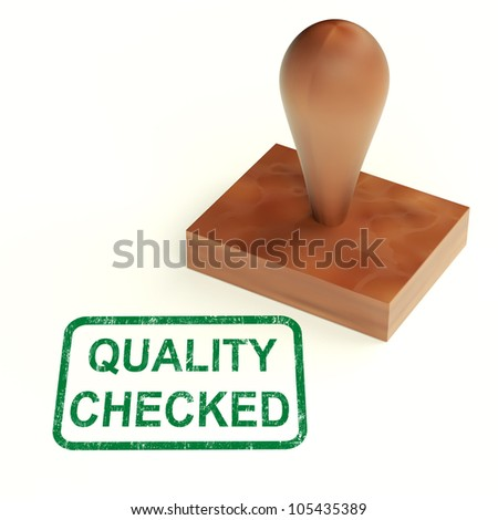 Quality Checked Stamp Showing Product Tested Ok
