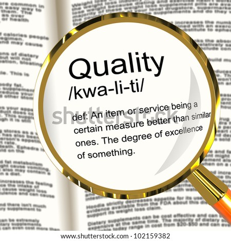 Quality Definition Magnifier Shows Excellent Superior Premium Product