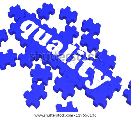 Quality Puzzle Showing Excellence And Premium Products Or Services