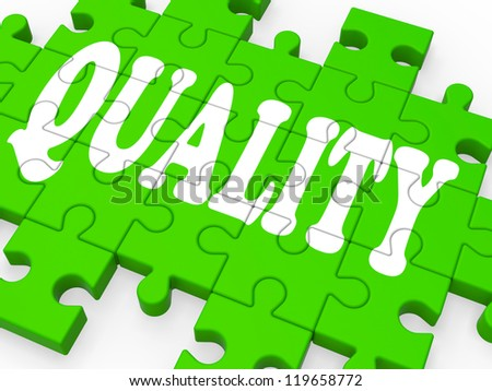 Quality Puzzle Showing Excellent Services And Products