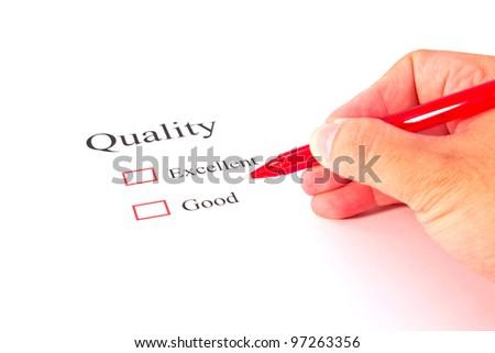 quality test closeup