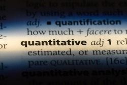 quantitative word in a dictionary. quantitative concept.