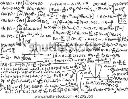 Quantum mechanics - stock photo