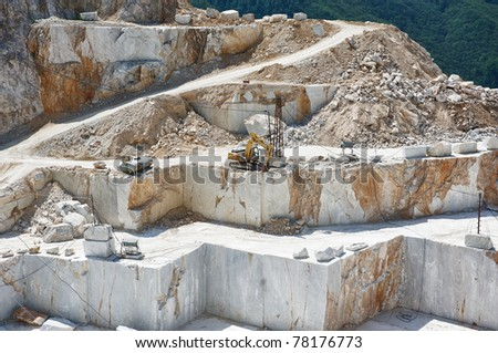 quarry in tuscany, Italy, Carrara