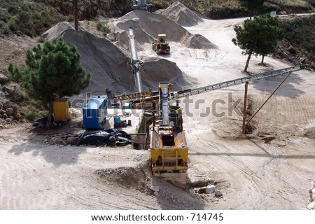 quarry industry - stock photo