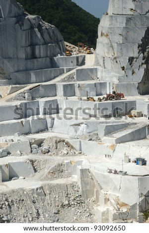 quarry of white marble statuary