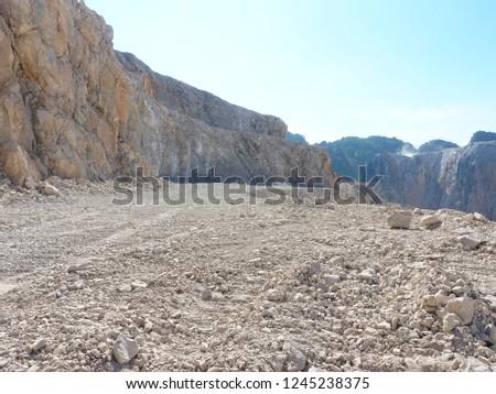 Quarry,  open pit limestone mining.  #1245238375