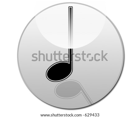 Quarter Note Musical Note Button