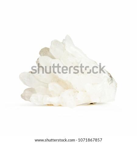 Quartz crystal on white background #1071867857
