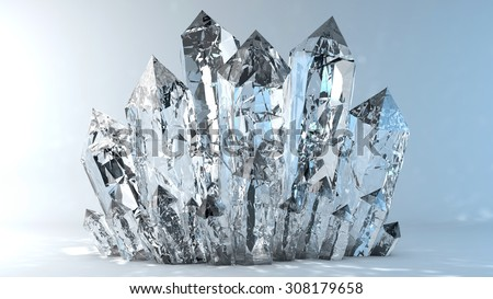 Quartz crystals growing #308179658