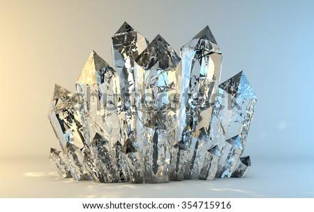 Quartz crystals growing #354715916