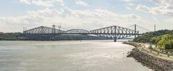 Quebec Bridge is a riveted steel truss structure