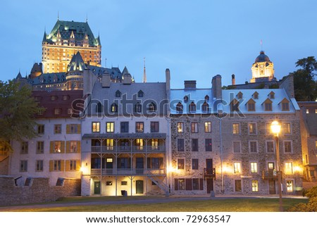Quebec City at dusk, Canada