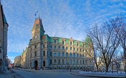 Quebec City Court House is a Second Empire style architecture located at Old Quebec City, Quebec, Canada. Historic District of Quebec City is UNESCO World Heritage Site since 1985.