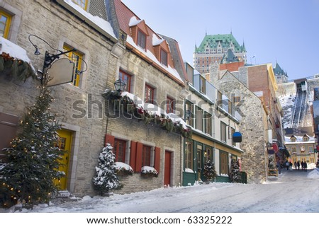 Quebec City streets, Chateau Frontenac
