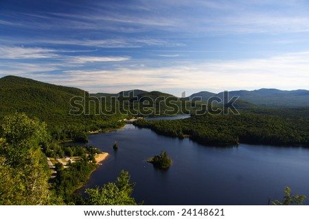 Quebec wilderness: Lac Monroe in Mont-Tremblant national park, Quebec, Canada in summer