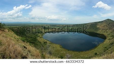 Queen Elizabeth crater lake, Uganda wonder.