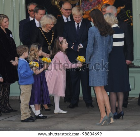 Queen Elizabeth II, Camilla Duchess of Cornwall and Catherine Duchess of Cambridge visit Fortnum and Mason, London, UK. March 1, 2012, London, UK Picture: Catchlight Media / Featureflash
