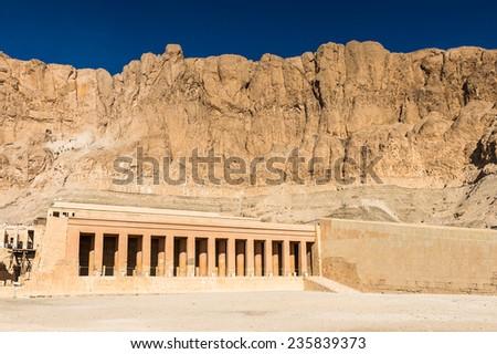 Queen Hatshepsut's temple (Dayr el-Bahari or Dayr el-Bahri), part of the Theban Necropolis. #235839373