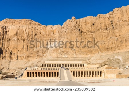 Queen Hatshepsut's temple (Dayr el-Bahari or Dayr el-Bahri), part of the Theban Necropolis. #235839382