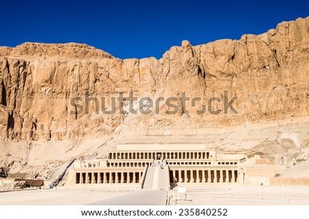 Queen Hatshepsut's temple (Dayr el-Bahari or Dayr el-Bahri), part of the Theban Necropolis. #235840252