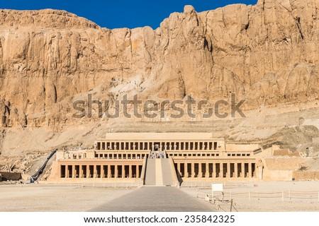 Queen Hatshepsut's temple (Dayr el-Bahari or Dayr el-Bahri), part of the Theban Necropolis. #235842325