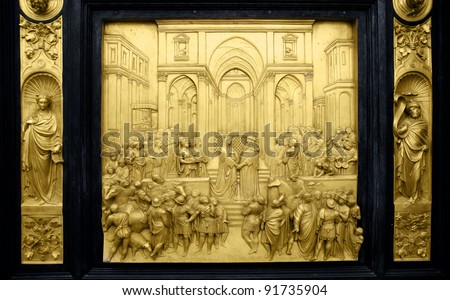 Queen of Sheba and King Solomon, Gates of Paradise, Florence