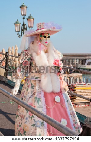 Queen of the costumes in the Carnival of Venice.