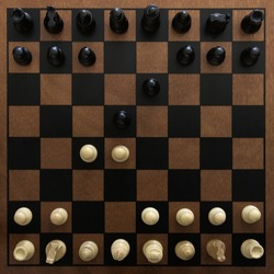 Queen's gambit chess move from above