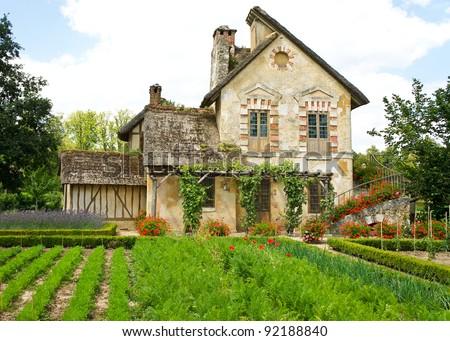 Queen's Hamlet, Marie Antoinette's farmhouse village at Versailles, France