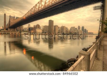 Queensboro Bridge spanning the East River in New York City.