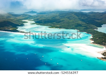 Queensland, Australia. Whitehaven beach and Whitsundays from above #524556397