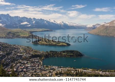 Queenstown NZ lake landscape #1147745744