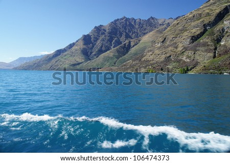 Queenstown With Lake Wakatipu - New Zealand Taking Photo from The Boat