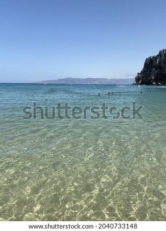 Quemado beach in al hoceima located in the Rif Mountians north Morocco Stockfoto ©